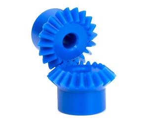 PLASTIC MITER GEARS BLUE