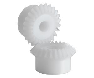 PLASTIC MITER GEARS WHITE